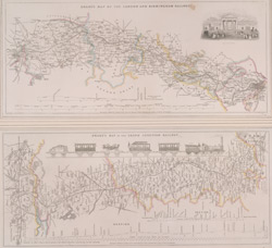 DRAKE'S MAP OF THE LONDON AND BIRMINGHAM RAILWAY and DRAKE'S MAP OF THE GRAND JUNCTION RAILWAY